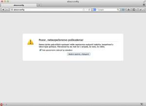 Firefox - skryté nastavenia cez about-config