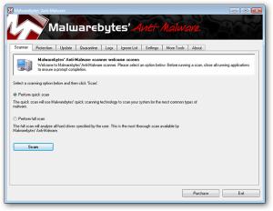 odstránenie malware pomocou Malwarebytes Anti-Malware