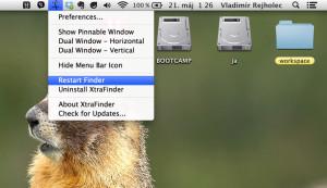 Najprv adresáre potom súbory vo Finder v Mac OS X