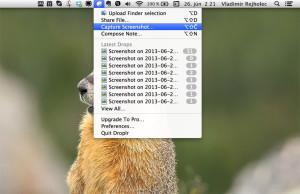 Droplr - Mac OS X - Capture screenshot