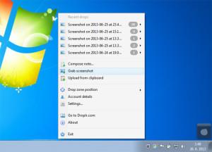 Droplr - Windows 7 - Grab Screenshot