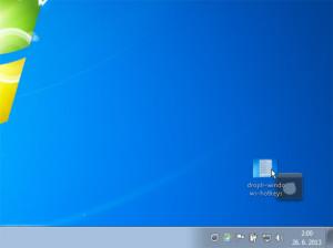Droplr - Windows 7 - drag-and-drop zdieľanie súboru cez dropzone