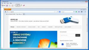 Snipping Tool (Windows 7) - možnosti práce s odchyteným screenshotom